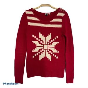 Roxy Knit Red with Snowflake logo Women's Sweater